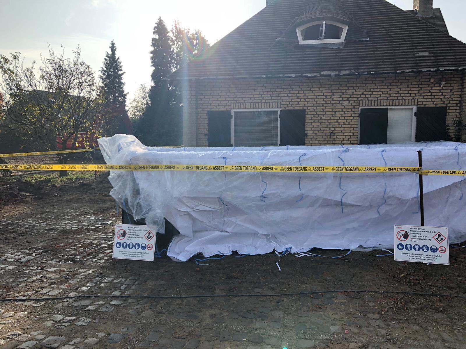 afvoeren asbest met puincontainer